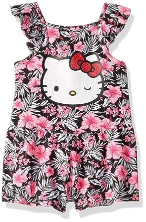 85676f8eb9f1 Amazon.com  Hello Kitty Girls  Knit Romper  Clothing