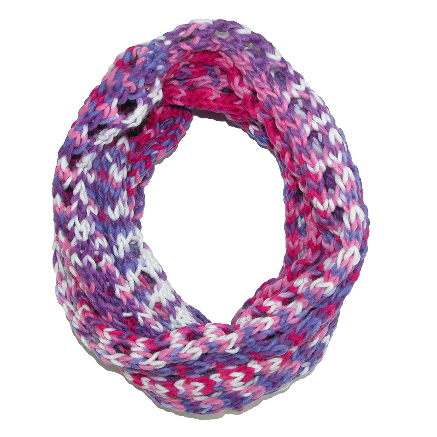 Grand Sierra Kid's Spacedye Knit Infinity Scarf, Pink