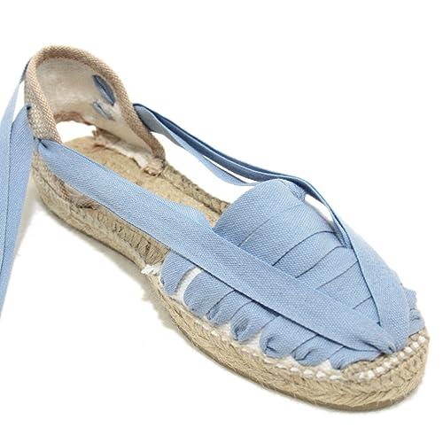 Alpargata Diseño Pintxo o Siete Vetas Azul Jeans: Amazon.es: Zapatos y complementos