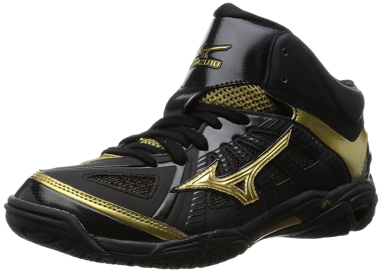 [ミズノ] バスケットボールシューズ ウエーブリアル BB7 B015ZHLXMQ ブラック/ゴールド 24.5 cm