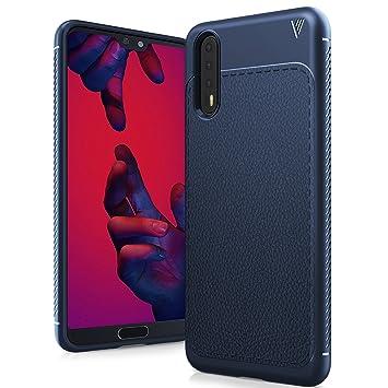 TTVie Funda para Huawei P20 Pro, Carcasa Caso Cubierta de Protección de Litchi Textura TPU Silicona para Huawei P20 Pro 6.1