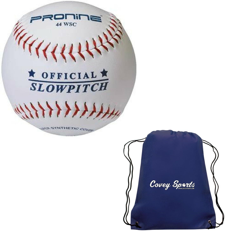 ProNine Slowpitch Softballs 12インチ。44 COR 375 lb圧縮ホワイトボールマルチパック() Coveyバンドルスポーツバッグ B07D1PQ5LS3 Balls