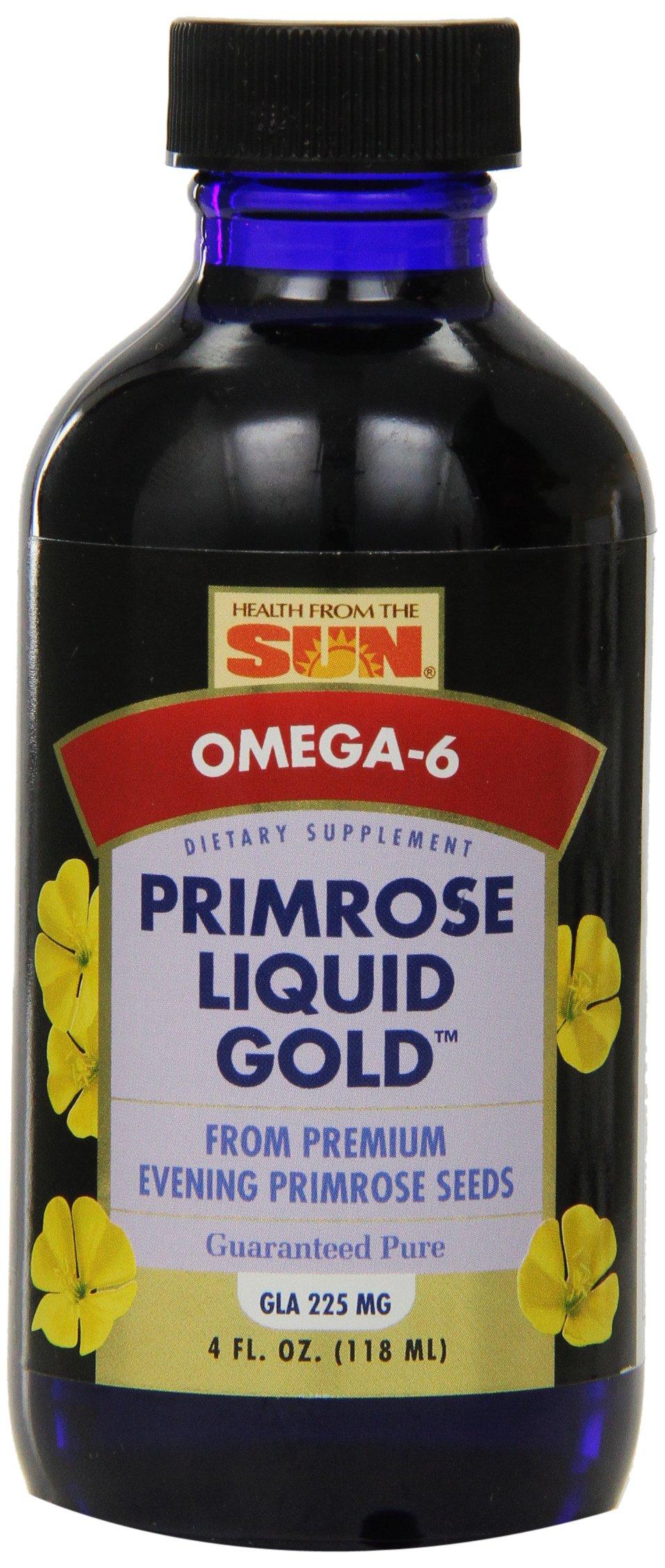 Health From The Sun Primrose Liquid Gold Liquid, 4 Fluid Ounce  (Pack of 12)
