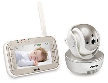 vtech vm343 video baby monitor with automatic infrared night vision pan tilt zoom
