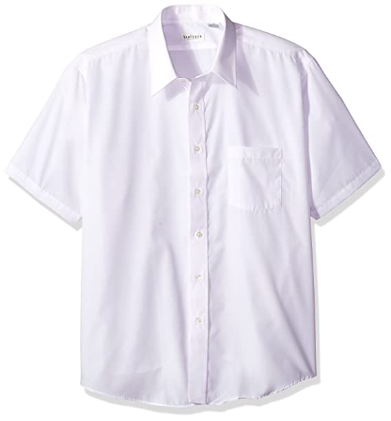 nice cheap hot-selling genuine reasonable price Van Heusen Men's White Broadcloth Wrinkle free Short Sleeve Dress Shirt