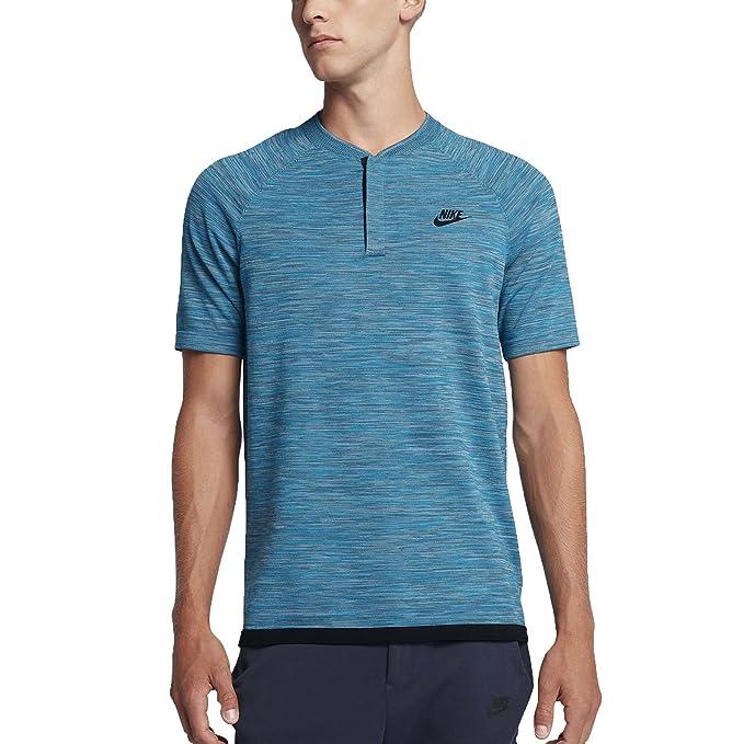 00780b6db Amazon.com: Nike Men's Tech Knit Sportswear Polo Shirt-Blue-Small ...