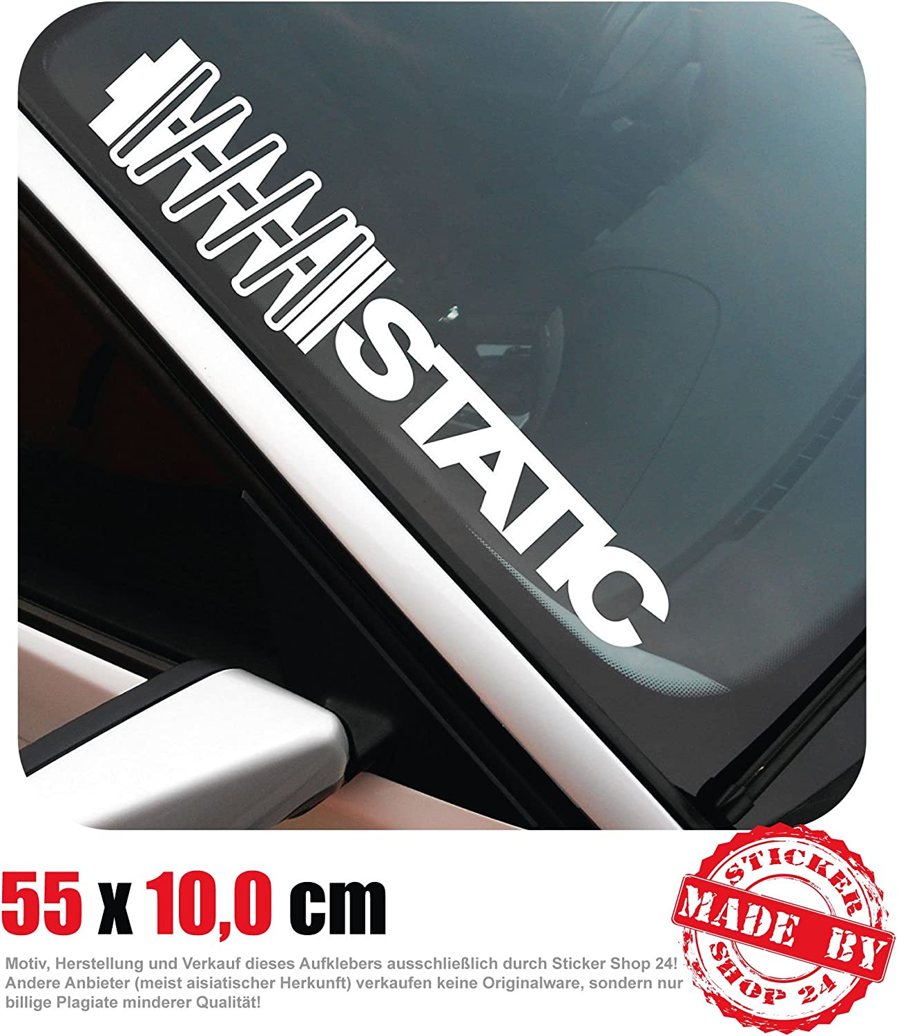 Static Front Window Sticker 55 Cm X 10 Cm Car Sticker Oem Tuning Decal 30 Colour Selection Auto