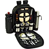 Picnic at Ascot Deluxe Equipped 2 Person Picnic Backpack with Coffee Service (Paris)