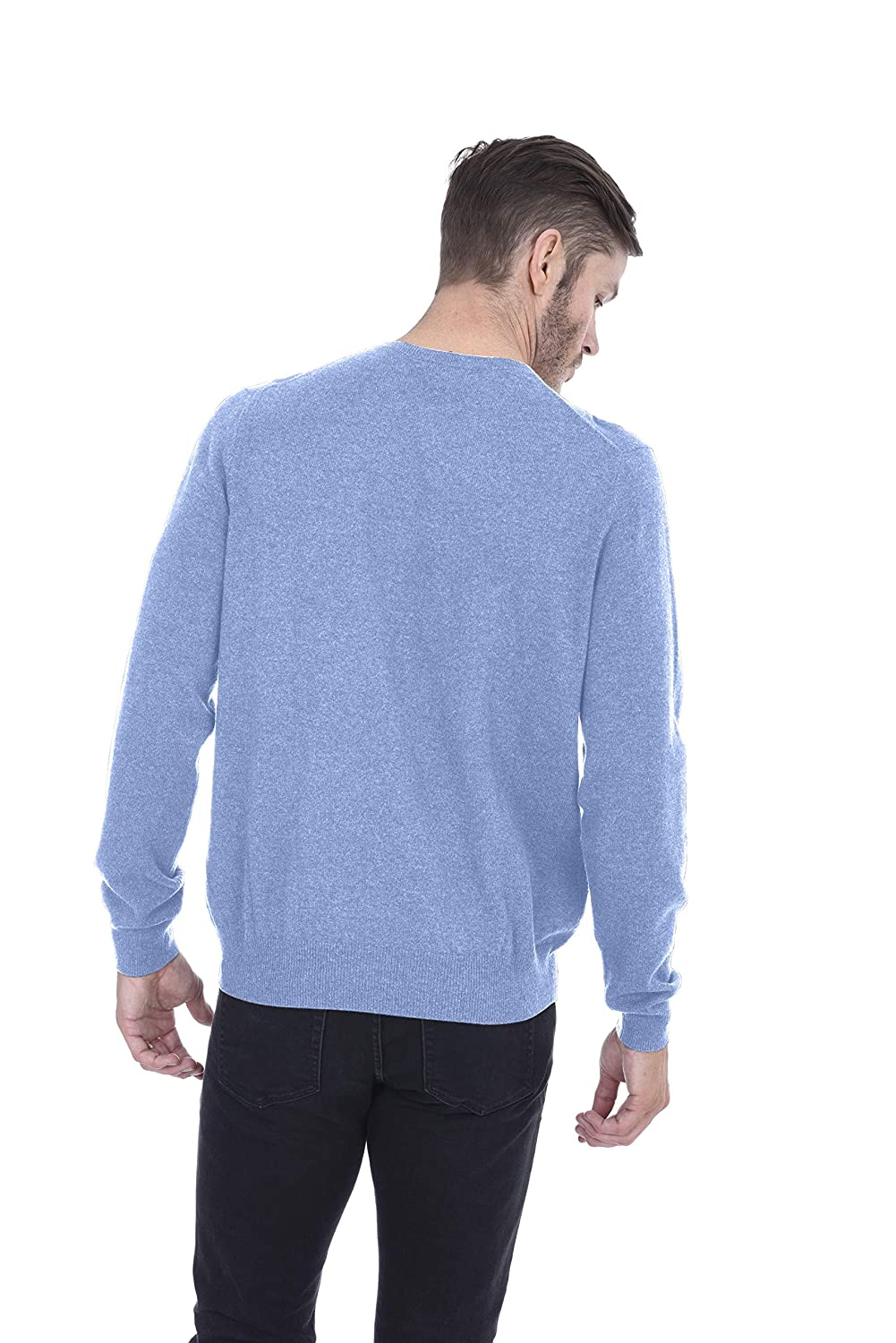 Cashmeren Mens Basic Crewneck Sweater 100/% Pure Cashmere Long Sleeve Round Neck Pullover
