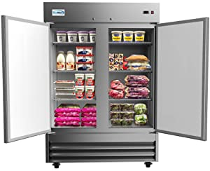 "KoolMore 54"" 2 Door Stainless Steel Commercial Reach-in Refrigerator Cooler - 47 cu. ft"