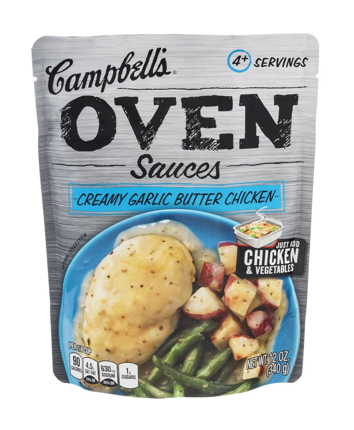 Campbell's Oven Sauces Creamy Garlic Butter Chicken (Pack of 3)