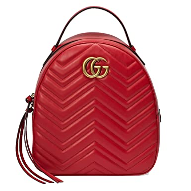 Gucci Women\u0027s 476671DTDHD6433 Red Leather Backpack Amazon