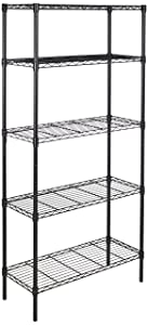 AmazonBasics 5-Shelf Shelving Unit - Black