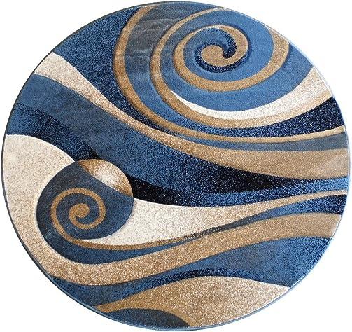 Safavieh Issac Mizrahi Collection IMR720C Handmade Ivory and Blue Premium Wool Area Rug 4 x 6