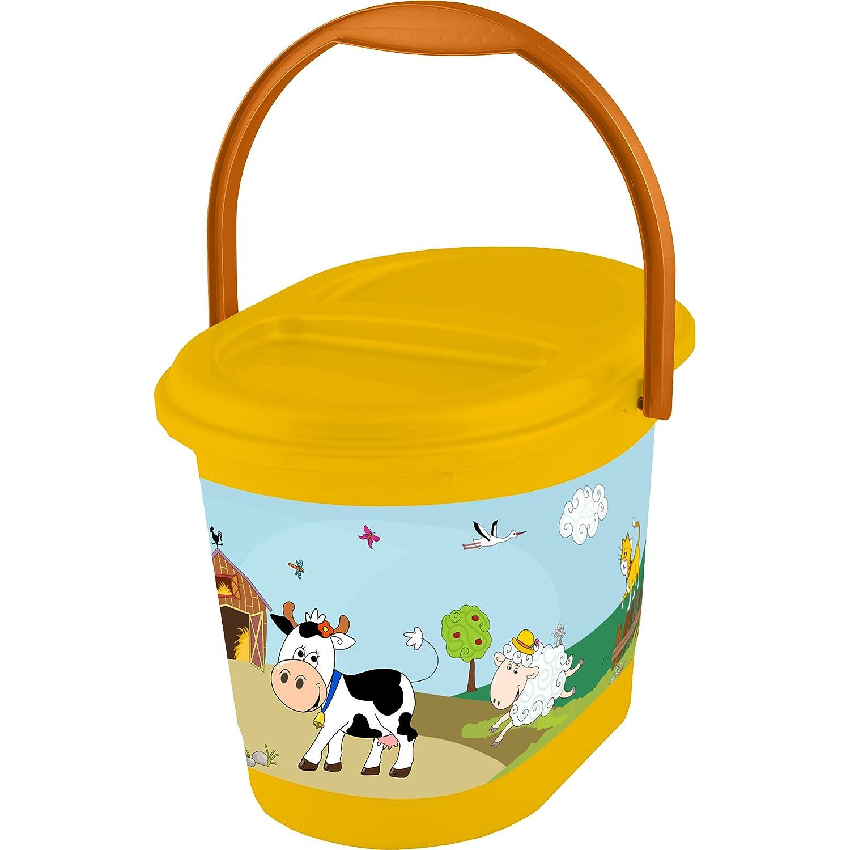 OKT Kids 11801456063 Nappy Bucket Funny Farm Apricot/Orange