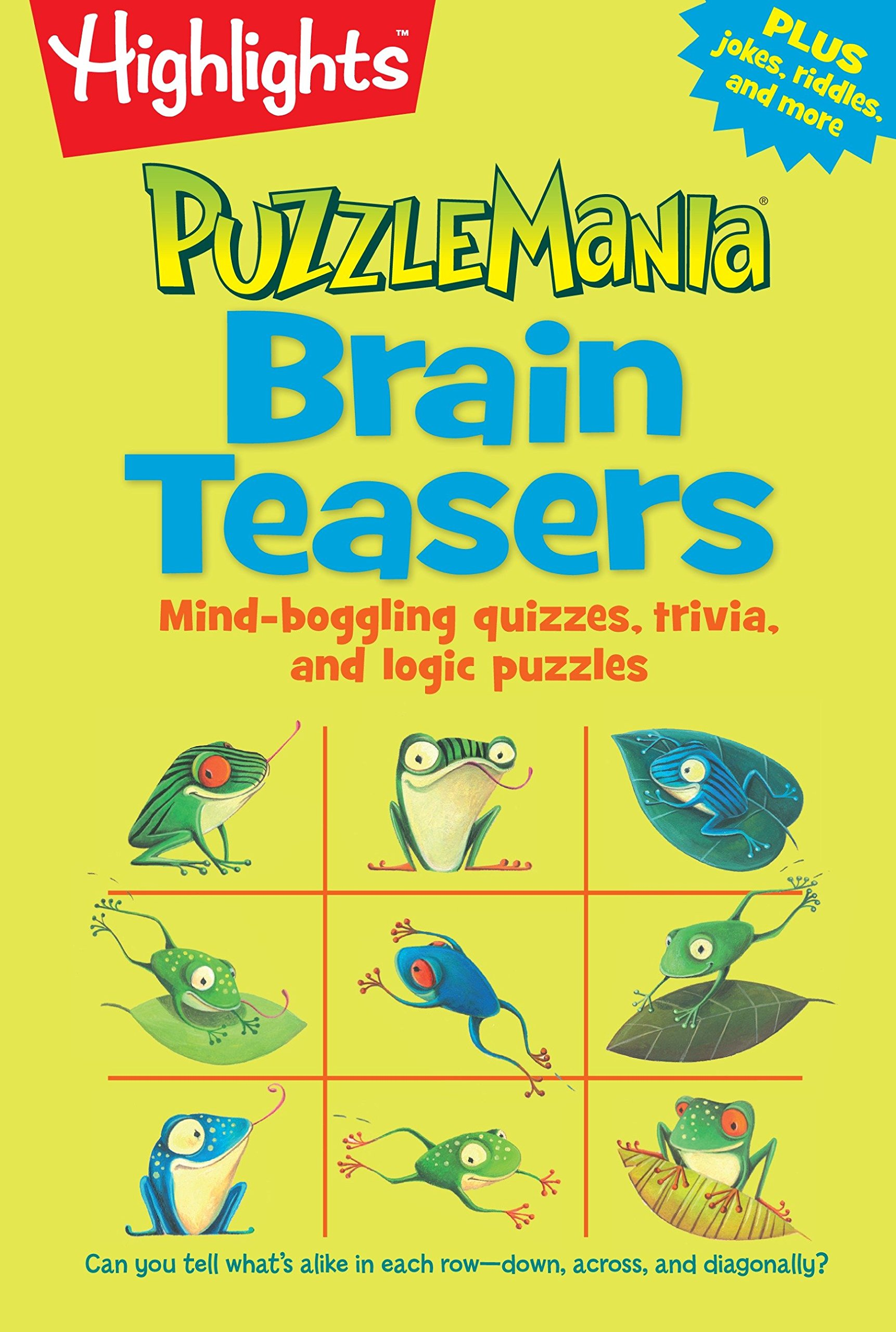 Brain Teasers: Mind-boggling quizzes, trivia, and logic puzzles  (HighlightsTM Puzzlemania® Puzzle Pads): Highlights: 9781629794228:  Amazon.com: Books