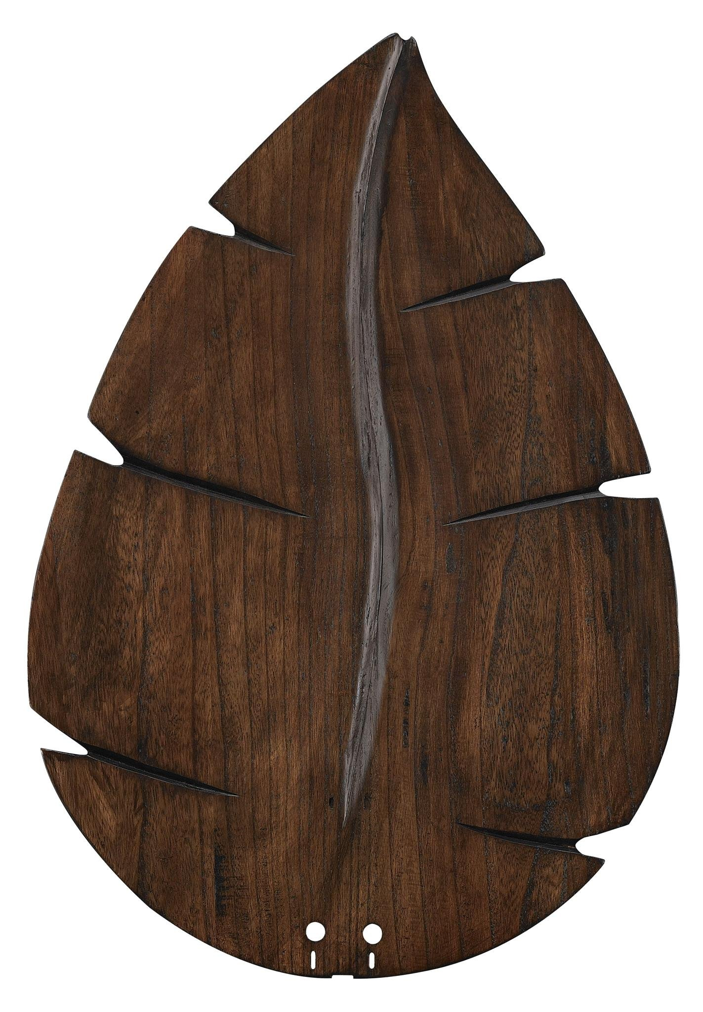 Fanimation B6080WA Wide Oval Leaf Carved Wood Blade, 26-Inch, Walnut by Fanimation