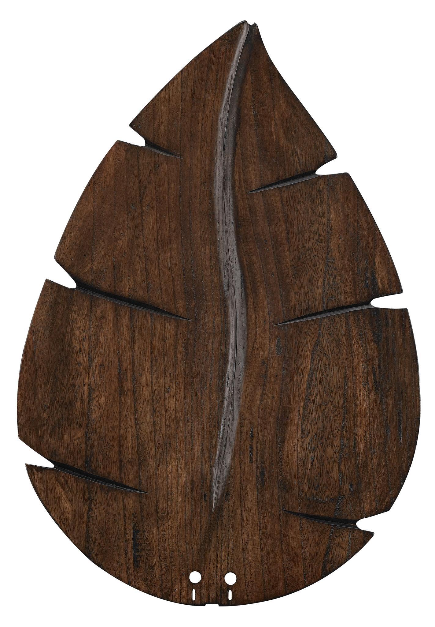 Fanimation B6080WA Wide Oval Leaf Carved Wood Blade, 26-Inch, Walnut
