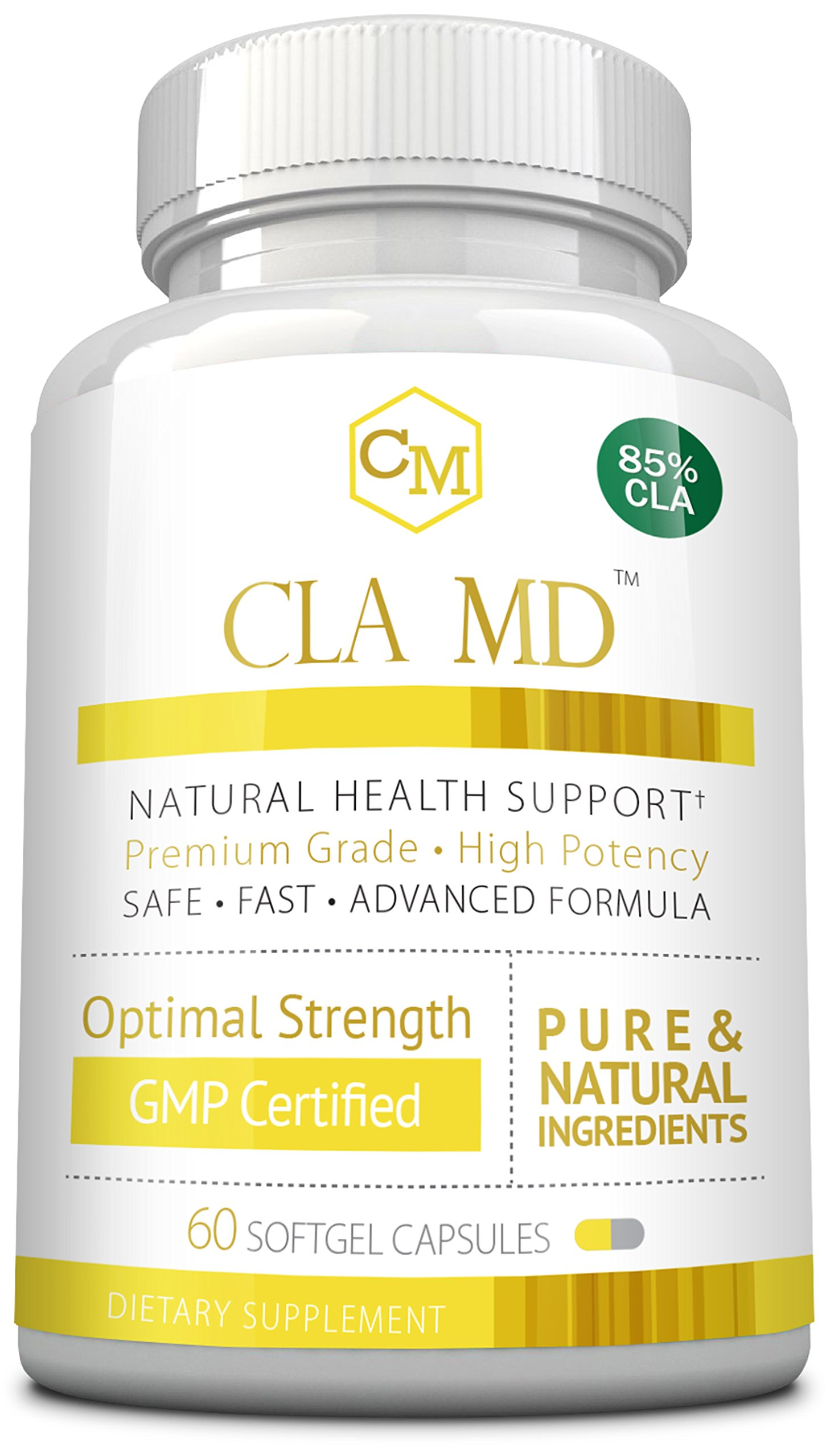 CLA MD - with 85% CLA - Activate & Boost Metabolism, 60 Capsules - 1 Bottle