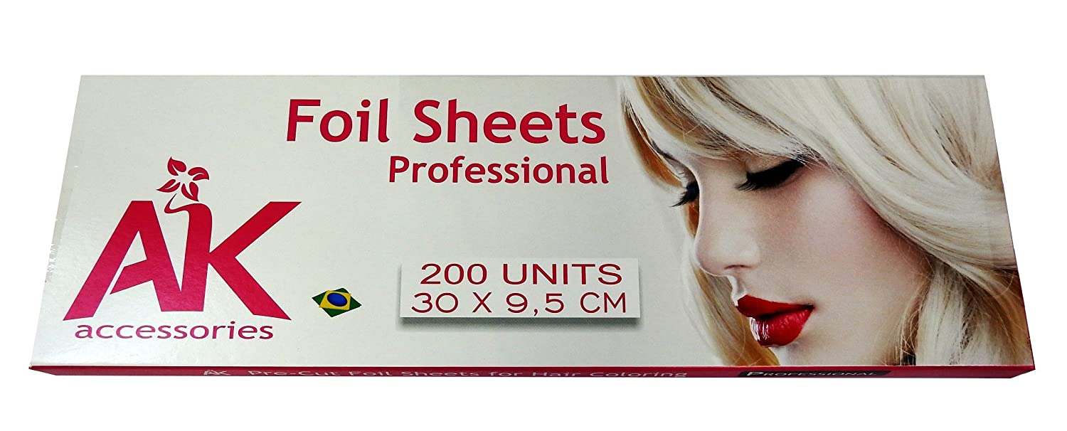Amazon.com : Aluminum foil 200 sheets for Hair Coloring and ...