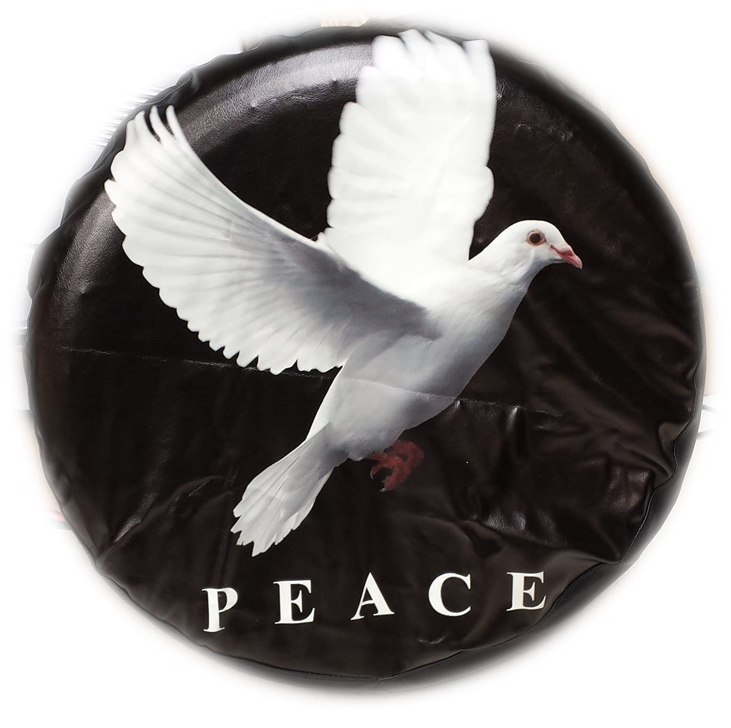 4x4 PEACE wheel cover rear spare tyre wheelcover black soft, quality CRV LET US KNOW YOUR SIZE! BargainworldUK