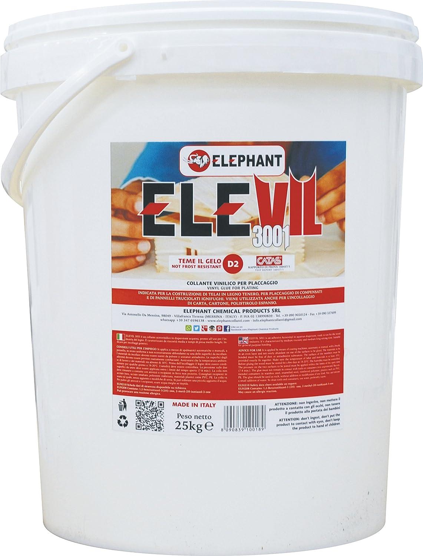 1 KG | Colla vinilica per Legno D2 ELEVIL3001- Super Collante professionale S.I. Sviluppo e Investimenti srl