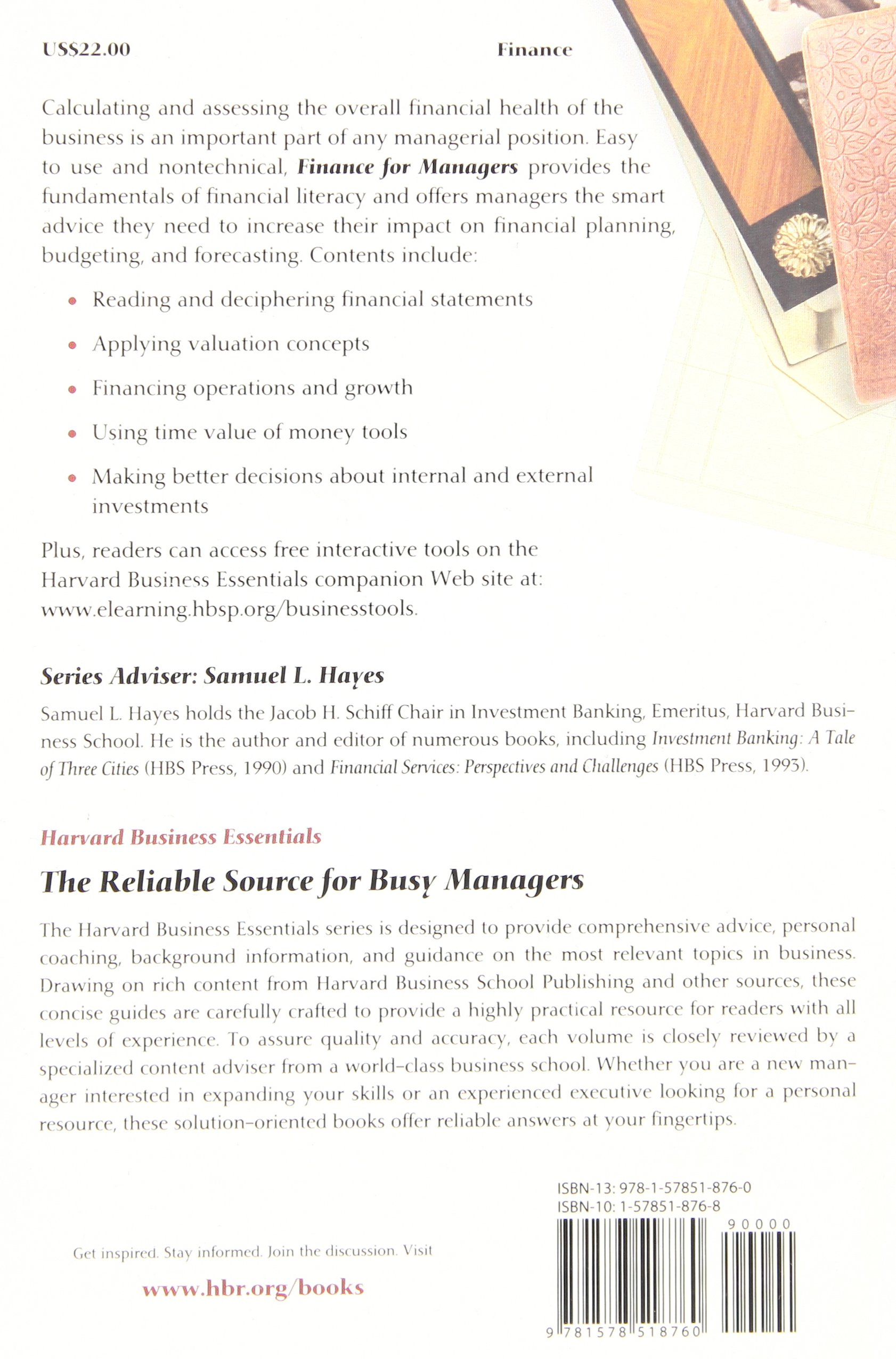 Finance for Managers (Harvard Business Essentials)