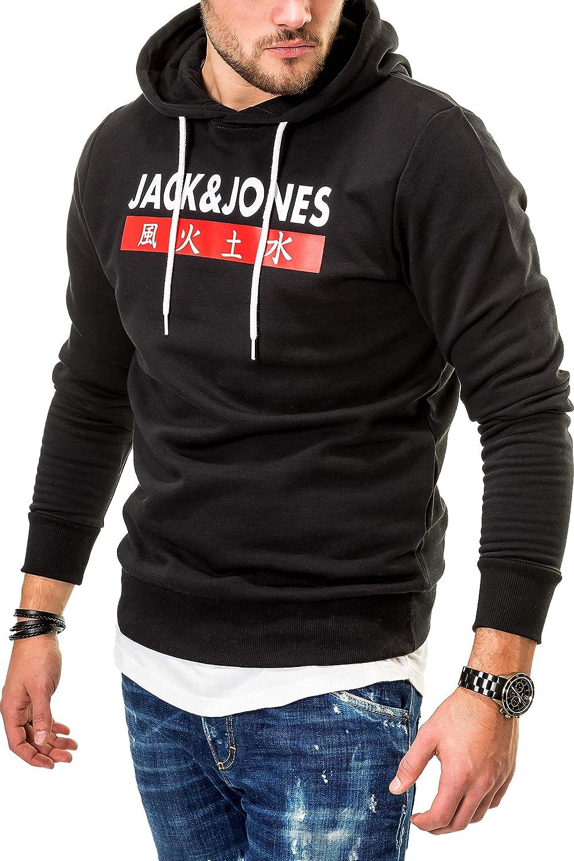 JACK & JONES Herren Hoodie Kapuzenpullover Sweatshirt B07JP7M7R6 Kapuzenpullover Liste der Explosionen