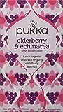 Pukka Elderberry & Echinacea, Organic Herbal Fruit Tea (4 Pack, 80 Tea bags)