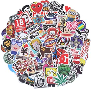 Laptop Stickers 100 Pcs Waterproof Vinyl Vsco Cool Stickers for Skateboard Car Water Bottle, Graffiti Stickers Decal Patches for Kids Teens Adults (100Pcs Vinyl Stickers)