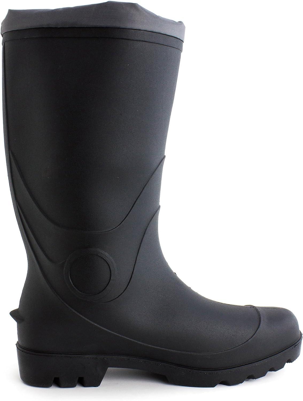 Easy USA Mens Knee High Four-Season Rain//Work Boots Adults