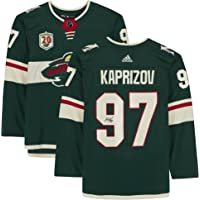 $399 » Kirill Kaprizov Minnesota Wild Autographed Green Adidas Authentic Jersey with 20th Anniversary Season Patch - Autographed…