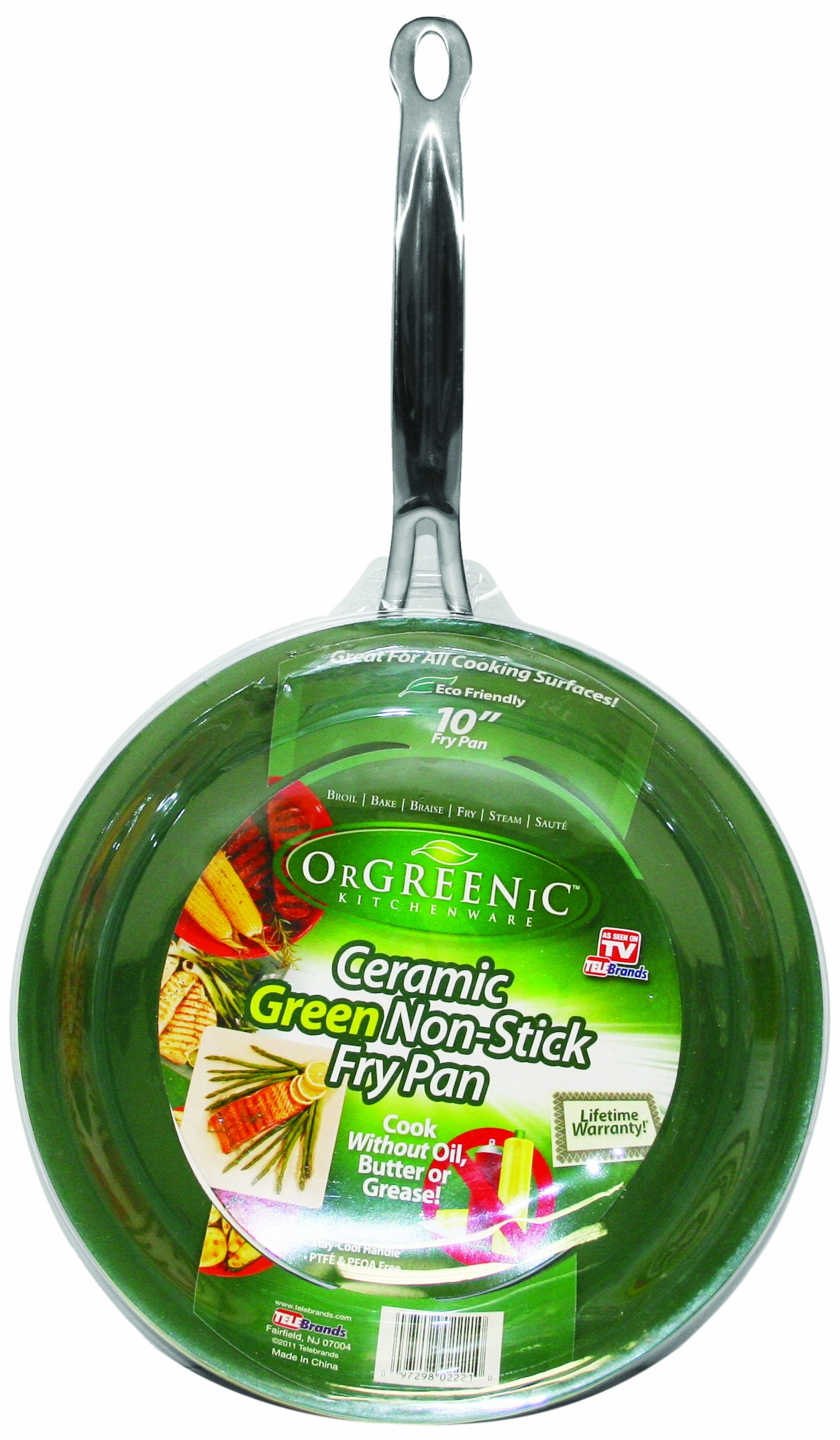 Telebrands Orgreenic Frying Pan, 10''