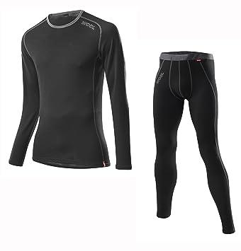 Löffler Set Transtex Lang - Conjunto térmico de ropa interior para hombre, color negro,