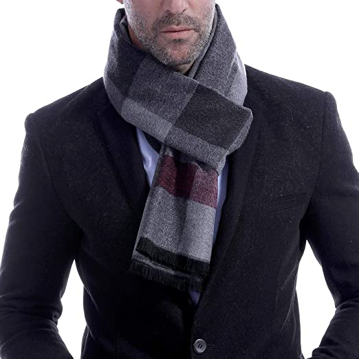 6dcdfb98f Men's Long Cashmere Knit Scarf Thick Winter Scarf Casual Warm Shawl Fashion  Man