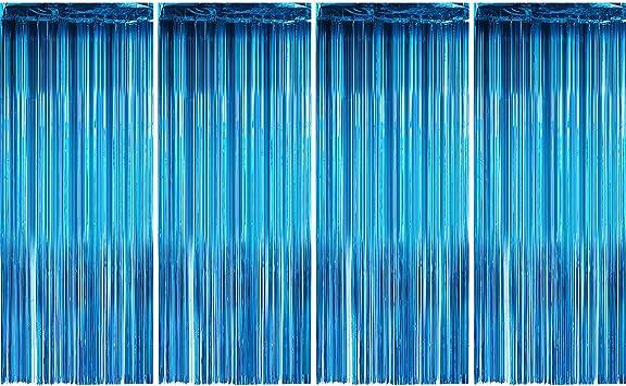 Amazon.com: Paquete de 4 cortinas metálicas con flecos para ...