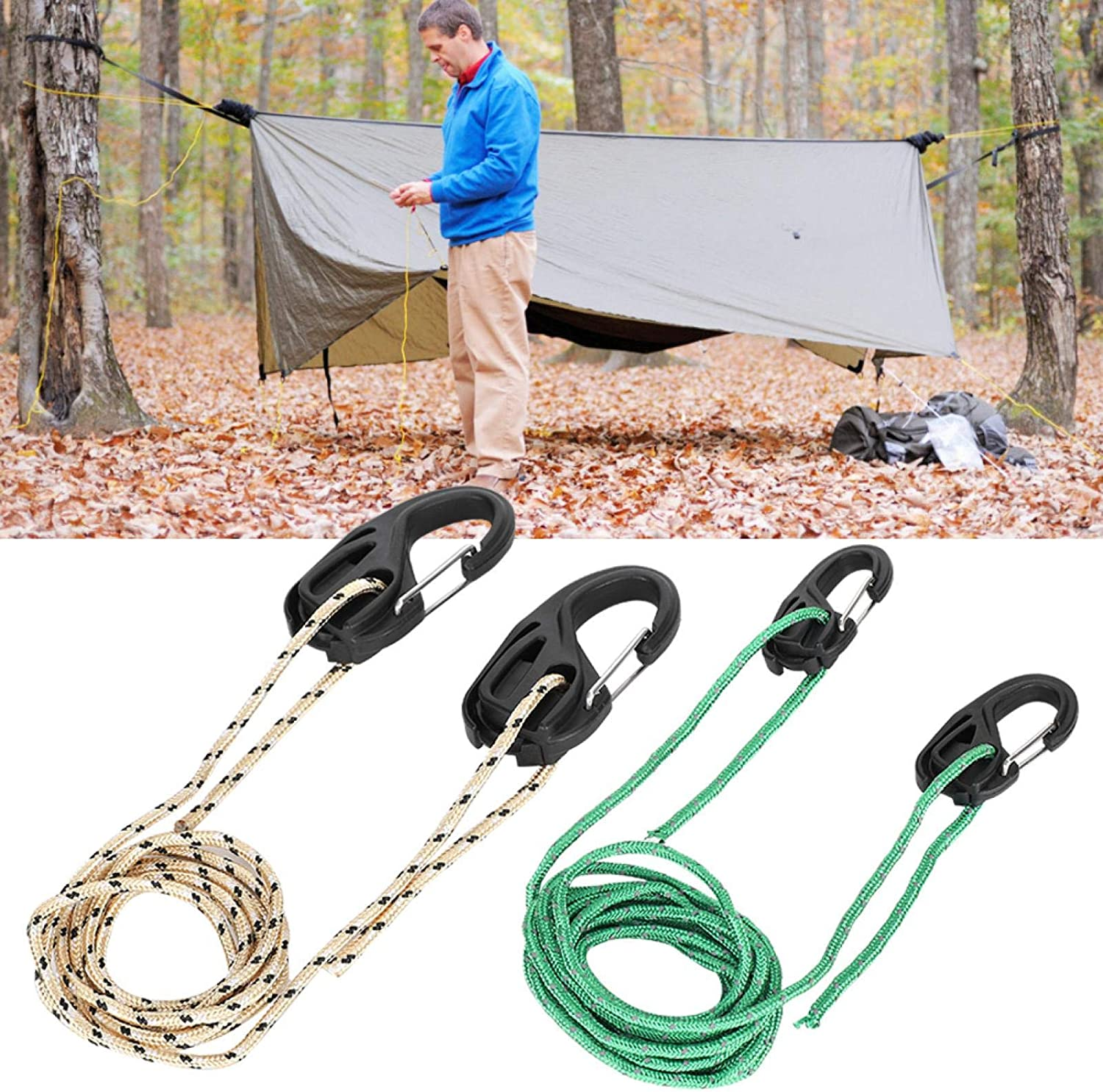 Cotton Rope for Indoor Fans for Planting Lights KUIDAMOS Carabiners Accessories Full Adjustable Outdoor Camping Hanging Rope Plastic