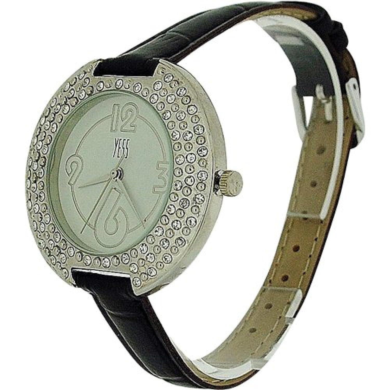 YESS F48363 brown - Reloj para mujeres, correa de plástico color marrón: Amazon.es: Relojes