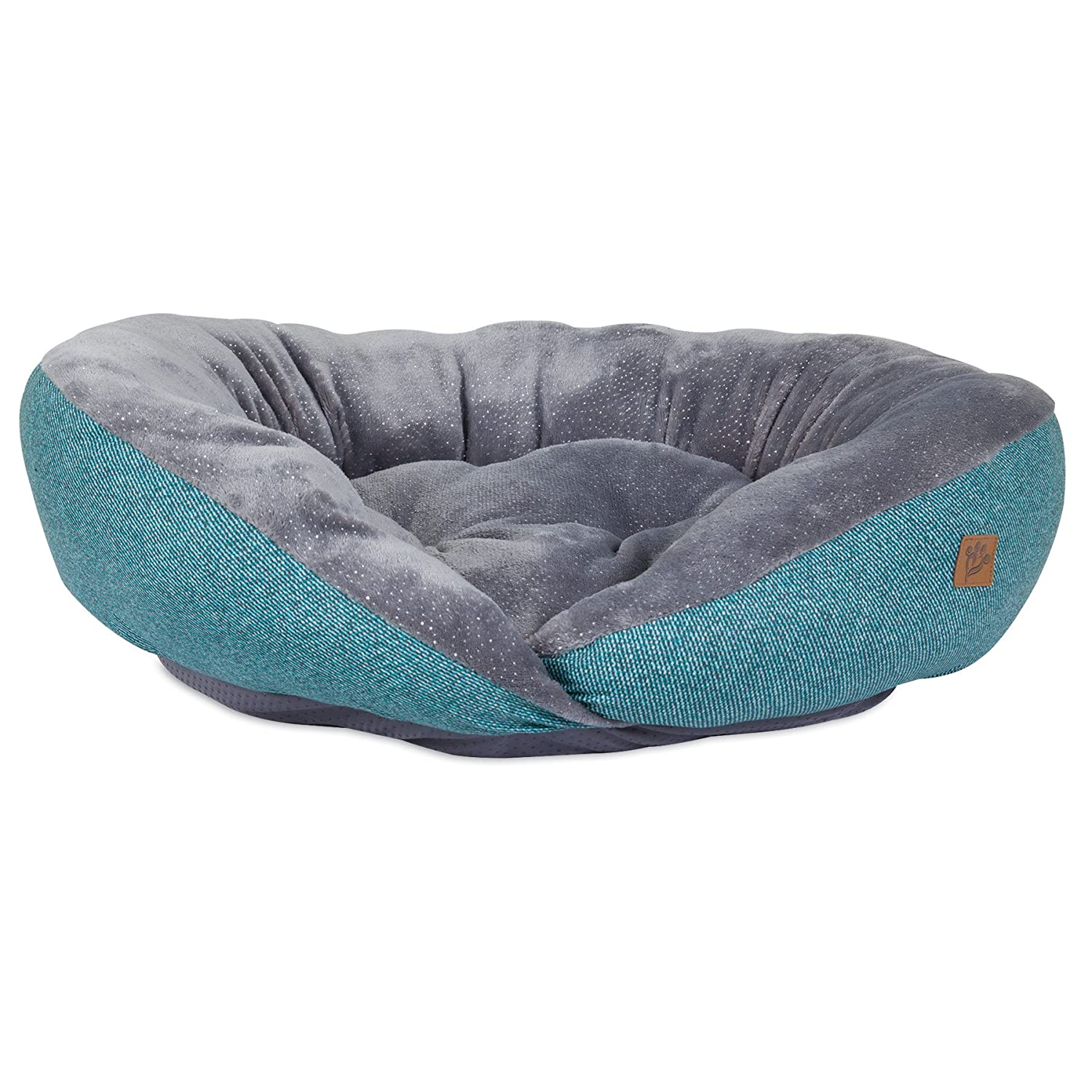 Mutt Nation Fueled by Miranda Lambert Plush Lounger Dog Bed in Denim Blue