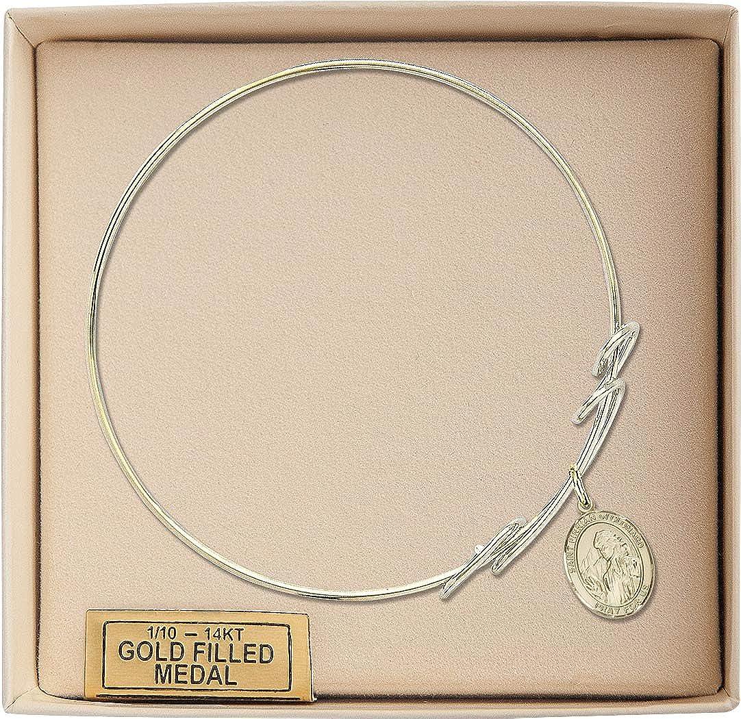 Finnian Of Clonard Charm On A 8 Inch Round Double Loop Bangle Bracelet St