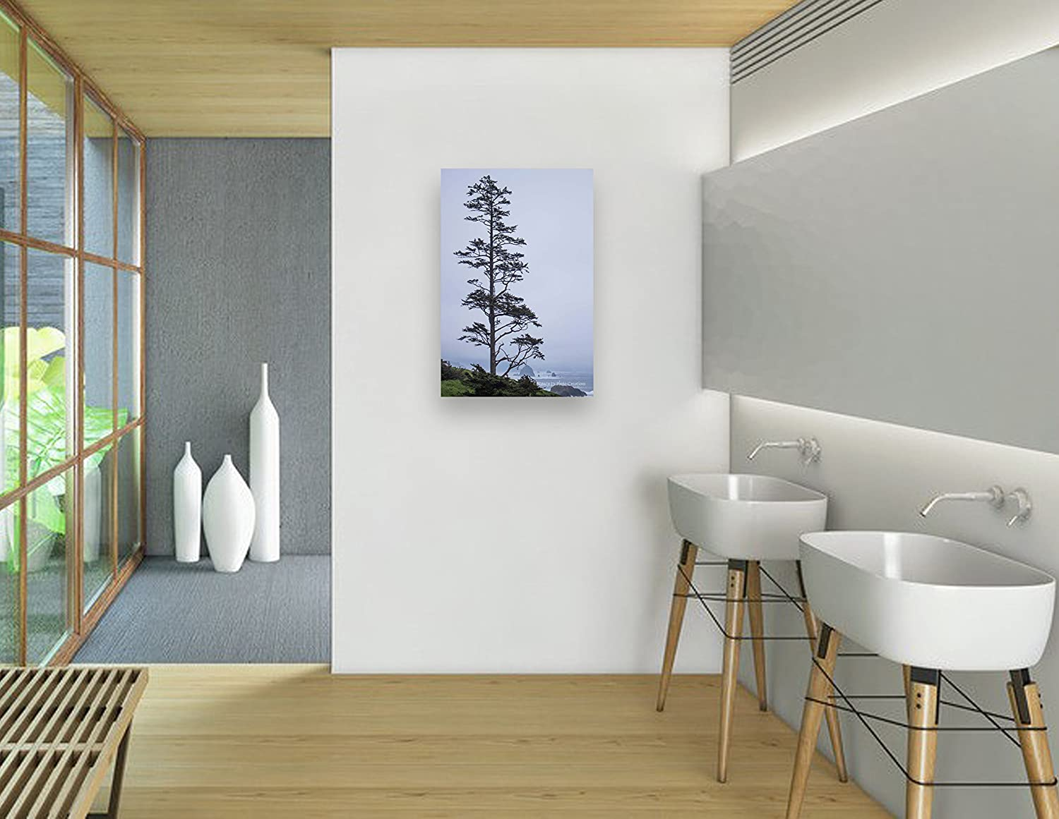Wall decals choose an option 8x12 in 16x24 in 24x36 in -  Wall Art Ready To Hang Nature Photographic Print Cannon Beach Picture Pale Blue And Black Home Or Office Decor 8x12 12x18 16x24 20x30 24x36 Handmade