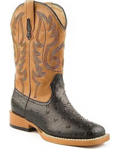 34dc152b560 Roper Square Toe Faux Ostrich Western Boot