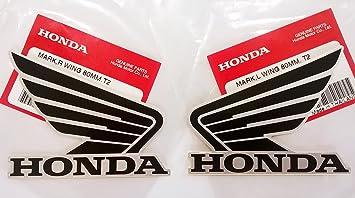 Honda Alas Depósito De Combustible Tanque De Gas pegatinas 2 x 80 mm), color