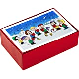 Hallmark Boxed Christmas Cards, Peanuts Gang (40 Cards with Envelopes)