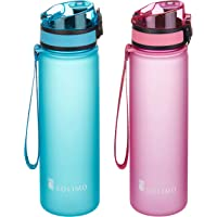 Solimo Sports Water Bottles, 600 ml, Set of 2