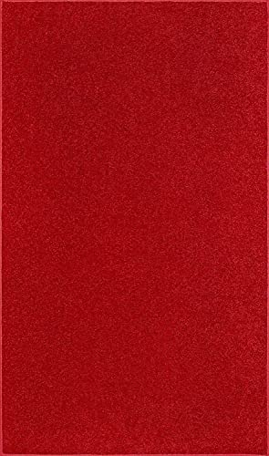 Home Cool Solid Colors Wind Dancer Collection Area Rugs Red – 5 x8
