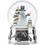 Reed & Barton Snowflurries Snowman Small Snowglobe