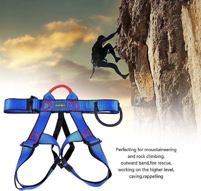 UCEC Arnés de Escalada, Cinturón de Seguridad de Medio Cuerpo para Escalada, montañismo, Rescate al Fuego, Cavación de Nivel Superior, Unisex, 1 ...