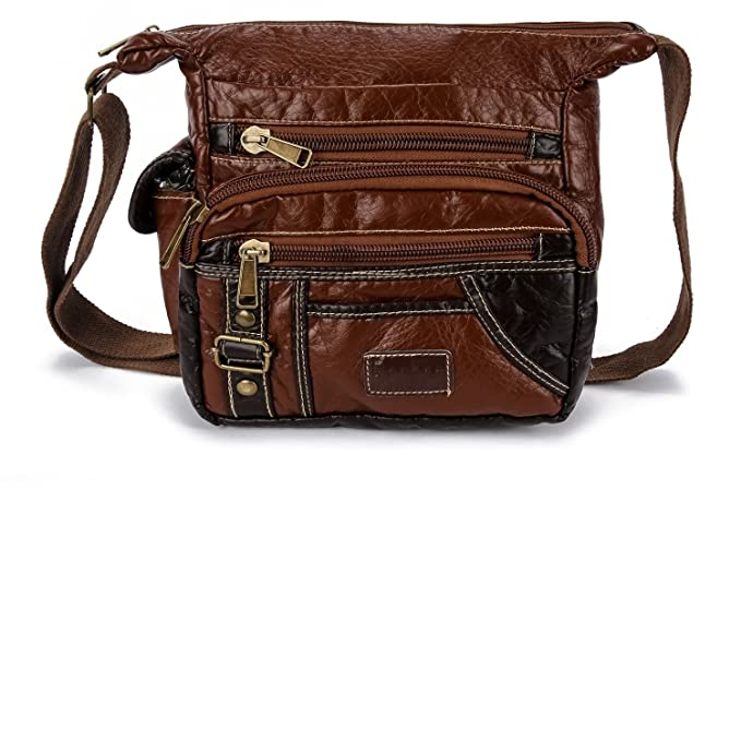 e23b14e56cb4 Image Unavailable. Image not available for. Color: Ranboo Small Crossbody Messenger  Bag Men Travel Shoulder Bag Hiking Purse Black