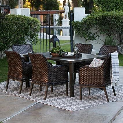 Amazon.com : Patio Dining Set. Modern, Outdoor Furniture Kit ...